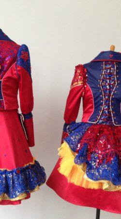 carnavalskostuum maatkleding prins prinses rood blauw steampunk