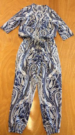 jumpsuit blauw wit paisley fantasyprint naailes eindhoven Cilhouette