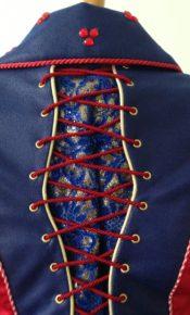 rugdetail carnavalskostuum prinses steampunk rijgsel