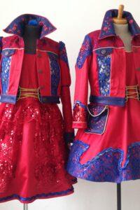 rood blauwe carnavals hofdames Maarheeze 2016-2017