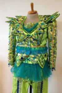 Lime carnavals kostuum fantasie