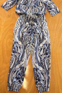 jumpsuit blauw wit paisley fantasyprint naailes eindhoven Cilhouette