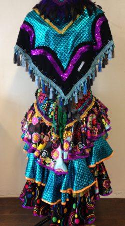 Spaanse jurk met omslagdoek carnavalskostuum bij Atelier Cilhouette Eindhoven