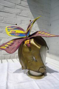 vlinder hoed pilotenhoedje