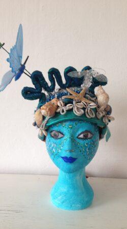 zeemeermin hoed met schelpen