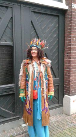 gepimpte vintage leren jas voor carnaval