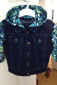 jeansjackje met tricot details Mieke