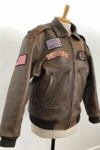 lederen pilotenjas, nagemaakt van originele jas uit USA maatkleding