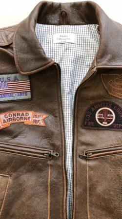 pilotenjas van leder, USA origineel emblemen